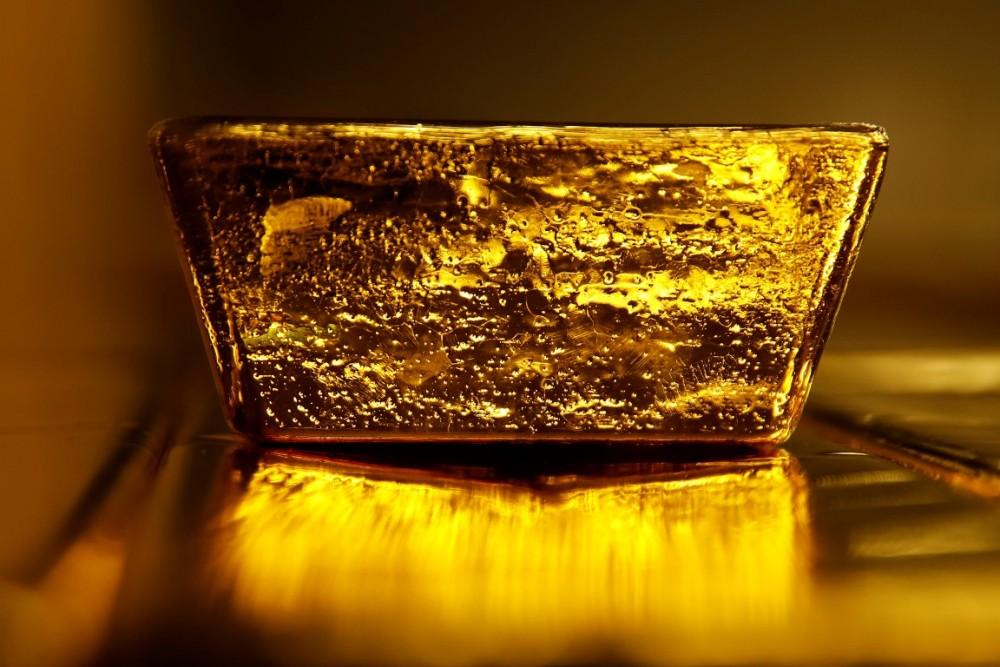 En stor tacka guld