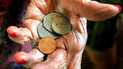 Att visa en hand med pengar