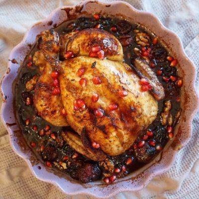 Kyckling med granatäppelsirap
