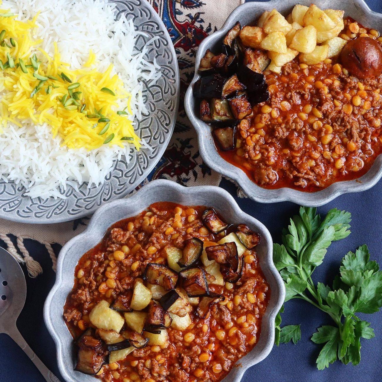 Gheimeh bademjan – persisk köttgryta