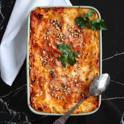 Kycklingfärs lasagne