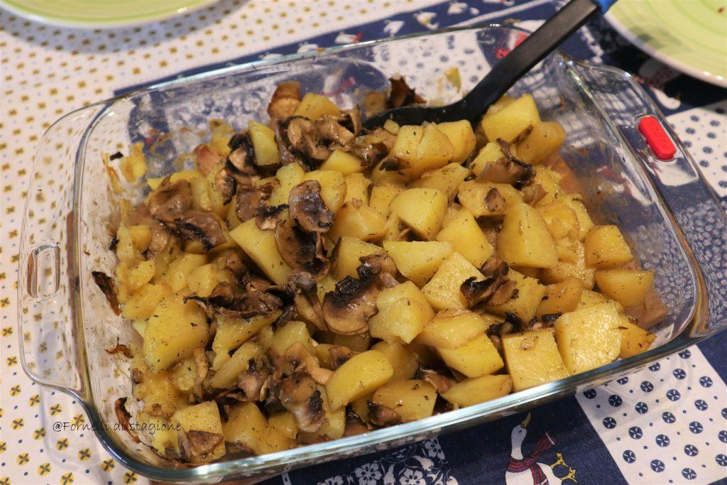 patete e funghi al forno