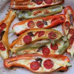 Peperoni ripieni di mozzarella