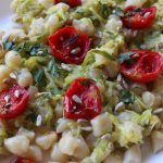Gnocchi con le zucchine e pomodori confit