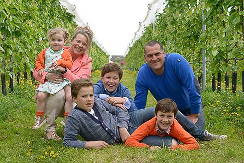 familiereportage in de tuin
