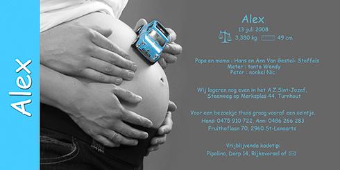 geboortekaartjes met zwangere buik