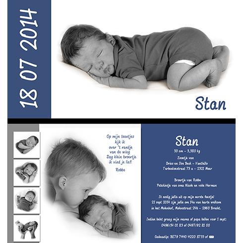 geboortekaart met babyfoto