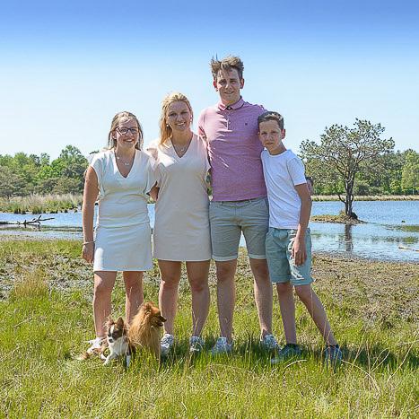 familiefoto buiten
