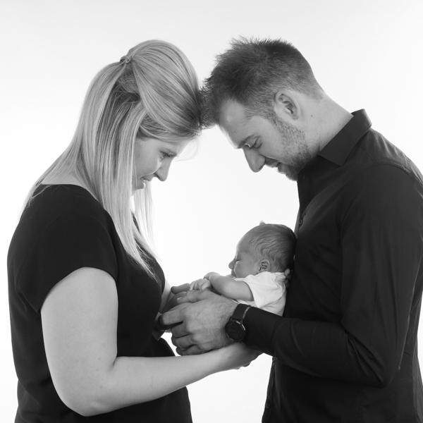 newbornfotografie met ouders