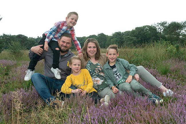 familiefoto op locatie