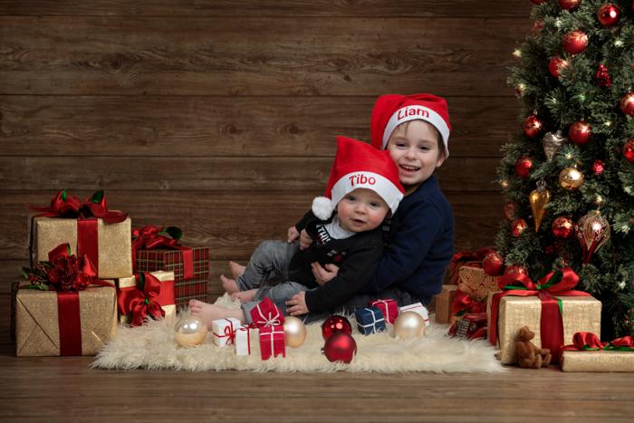 fotoshoot kinderen kerstmis