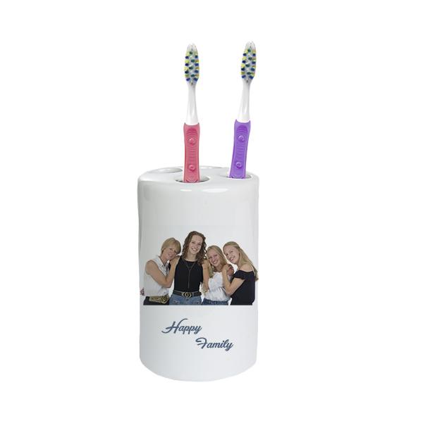 tandenborstel houder met foto