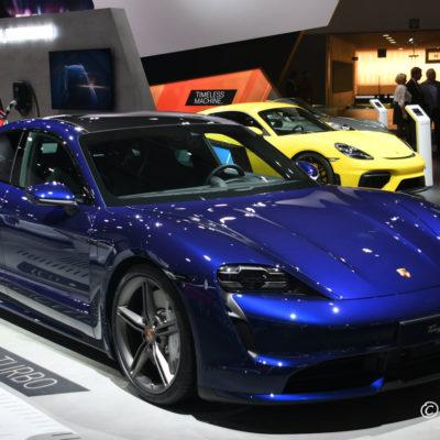 98ste Brussels Motor Show Porsche Taycan Turbo