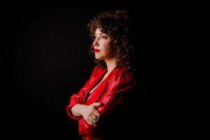 vrouw, portret, studio