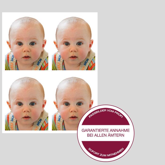 Passbilder für Babys 4er Set