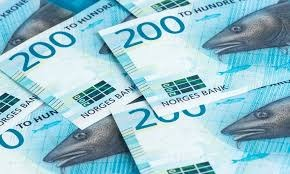 A few Norwegian 200 krone bills. They have a drawing of a cod on them.