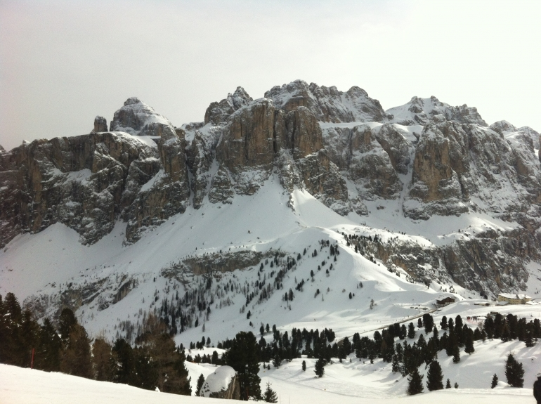 Wintersport in de Italiaanse Dolomieten