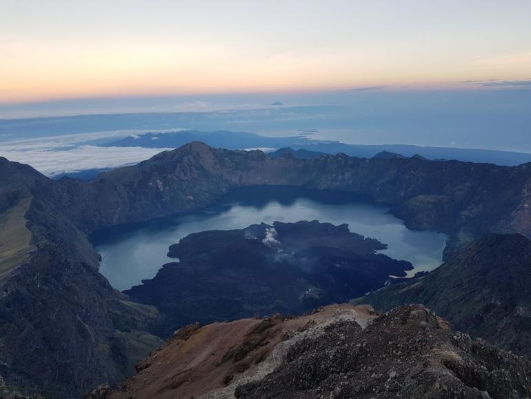 Beklimming van vulkaan Rinjani