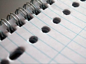 notepad, paper, writing