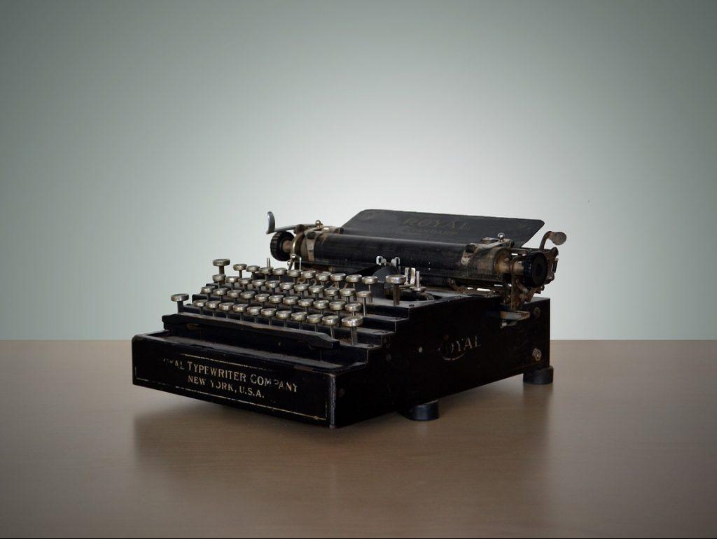 vintage, typewriter, write