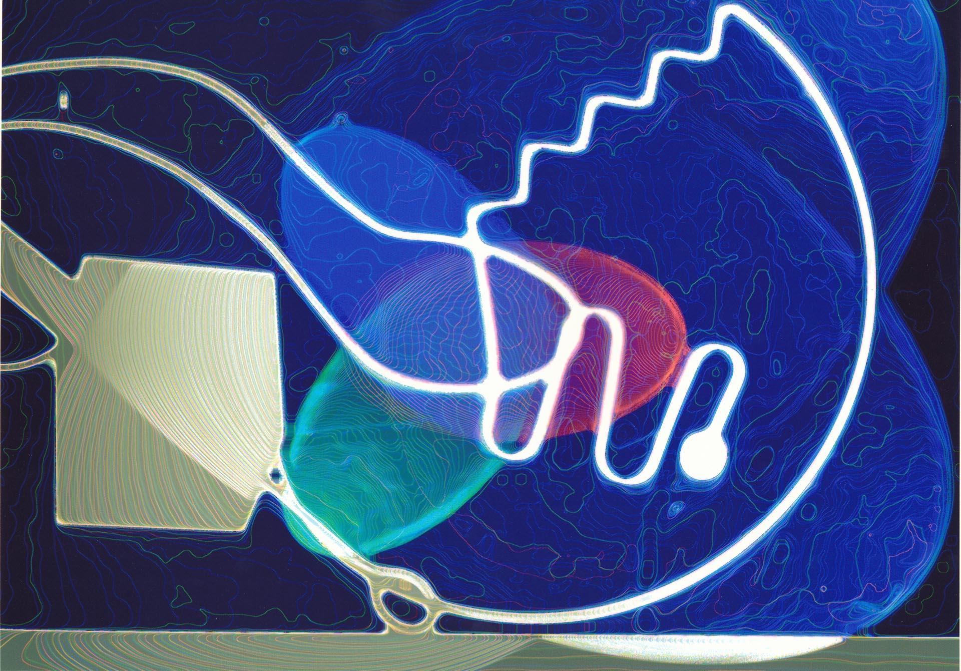 Intitled, Fotogramma su carta BN con rielaborazione a colori, 2002