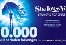 Photo of SHE LOVES YOU runder 10.000 solgte billetter og forlænger med en uge i Fredericia
