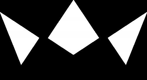 Frederik rex crown logo - grafisk design hvid