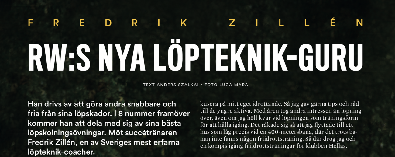 Fredrik Zillén löpteknik-guru hos Runner's World