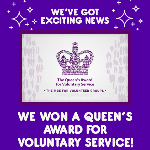 We won a Queen's award for voluntary service!