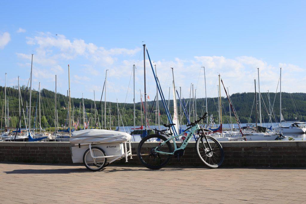 Hafen Lipno mit bturtle