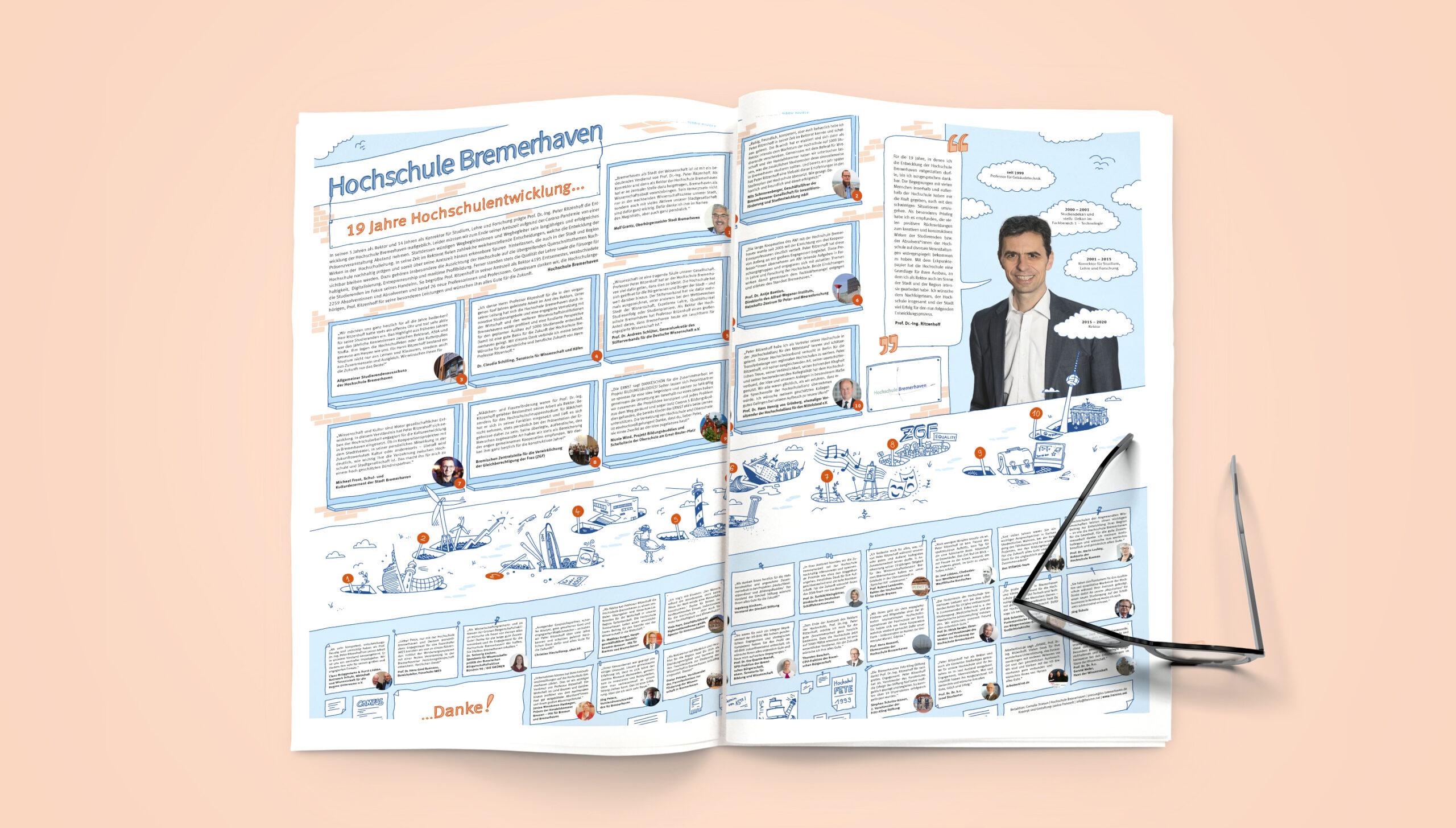 Konzeption Zeitungsanzeige Hochschule Bremerhaven