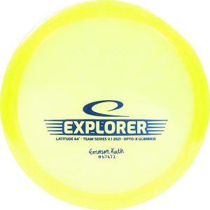 latitude 64 opto x glimmer explorer emerson keith 2021 team series yellow 600x Frisbeesor.no