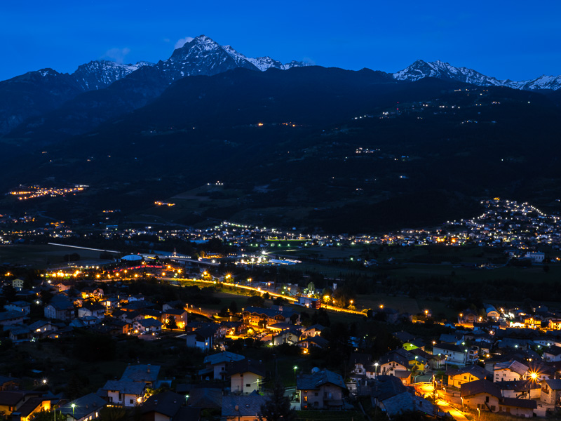 Aosta by night_Italien