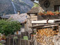 Hus i Aosta, Italien.
