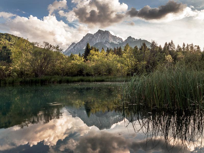 Vattenspegling, Slovenien.