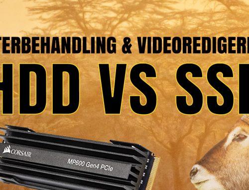 Vilka lagringsenheter (diskar) ska du använda för – efterbehandling & videoredigering?