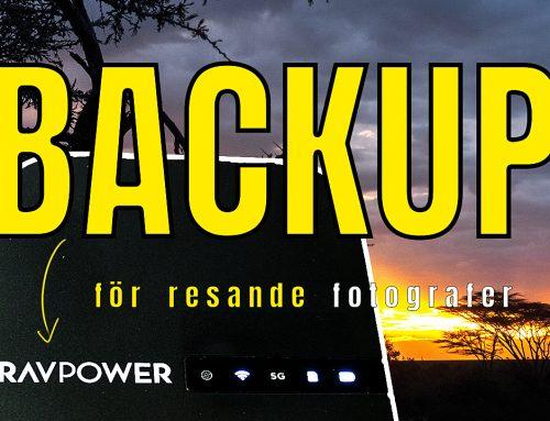 Backup med Ravpower Filehub  – ett måste för en resande fotograf!