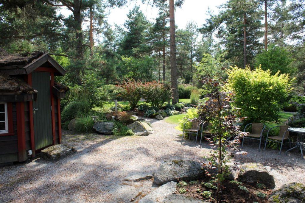 Samlingsplass i den japanske hagen i Odden Hage