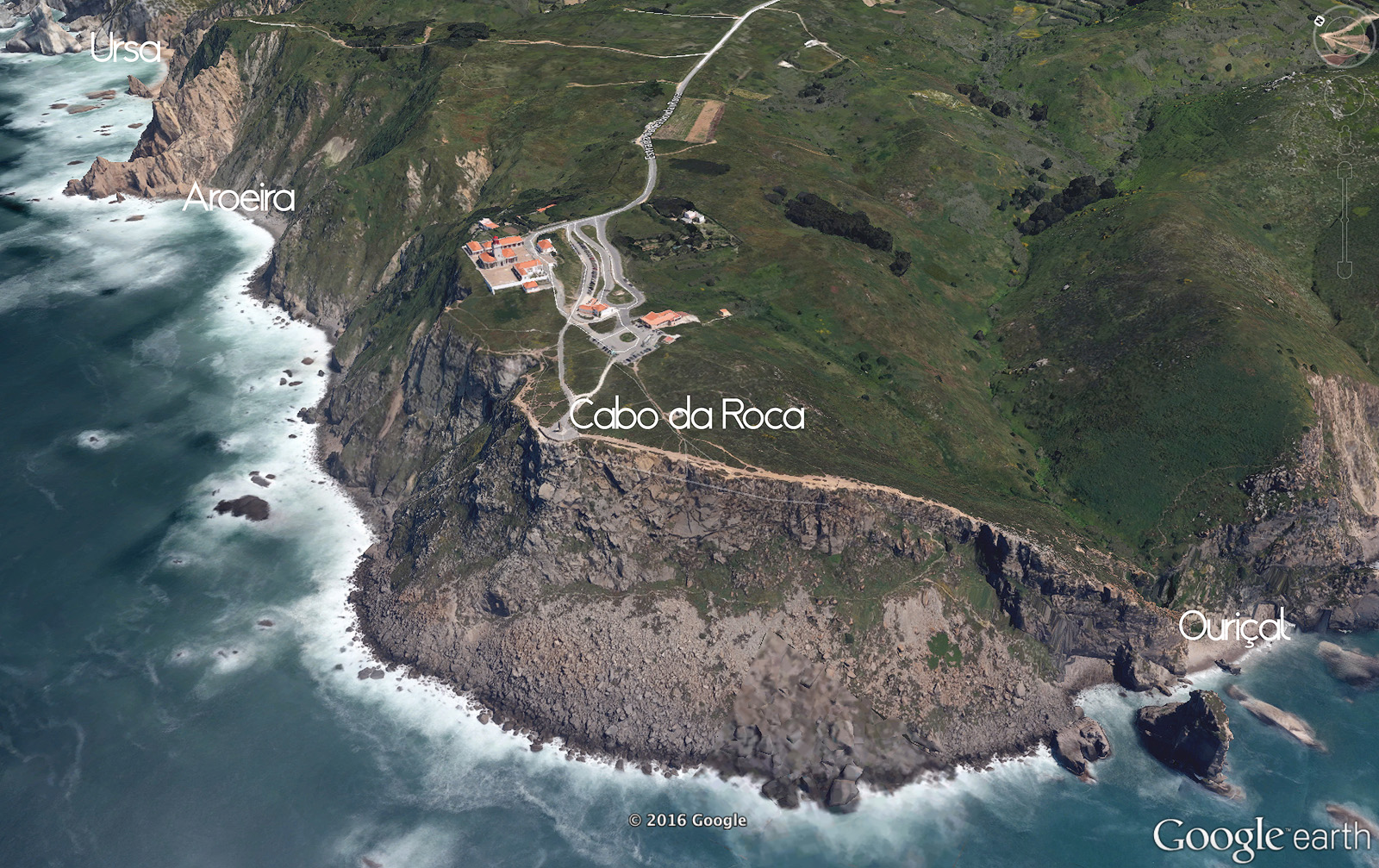 Cabo da Roca map