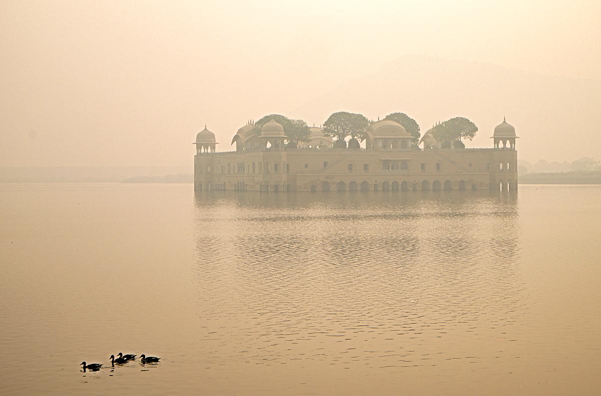 Jaipur palace in the lake