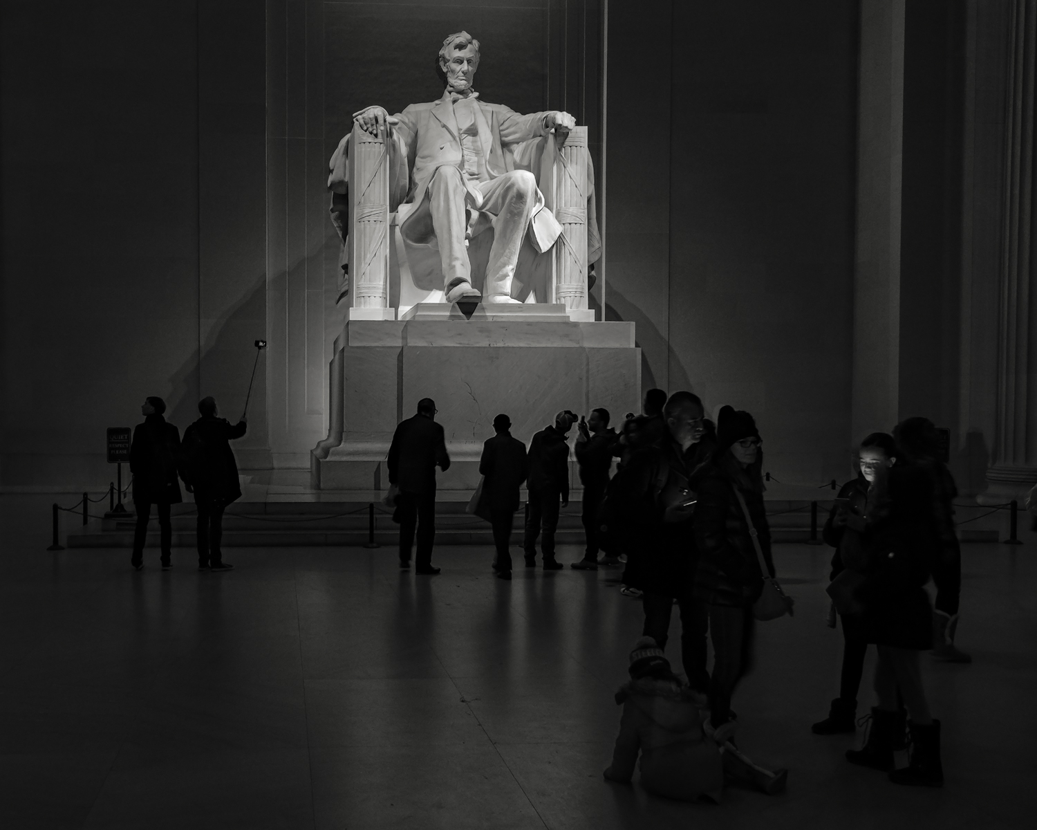 Mr. Lincoln No 2. • The Lincoln Memorial, National Mall, Washington, DC. Fuji x-T2 and a Fujinon XF10-24mm f4 OIS. Image exposed at ISO 1200 at f4 for 3 seconds.