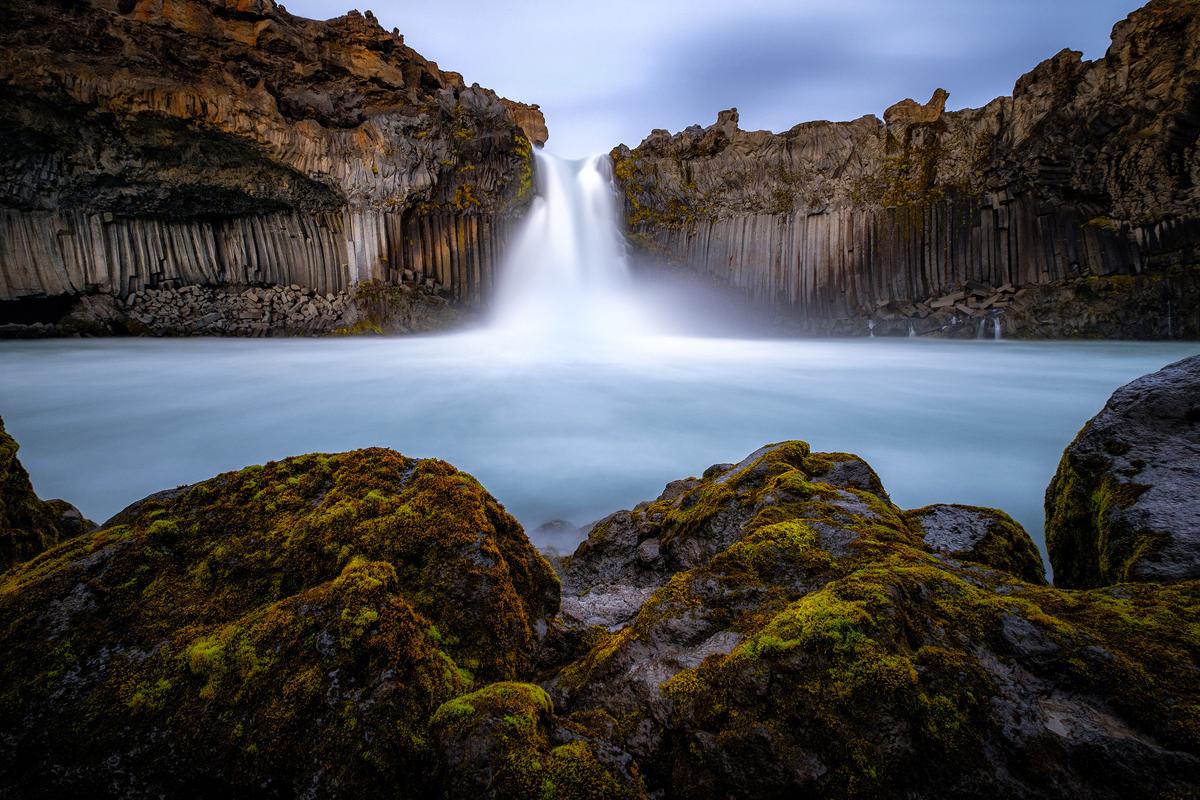 Aldeyjarfoss - at the bottom of the waterfall, 10mm F8 30s iso200 - ND filter