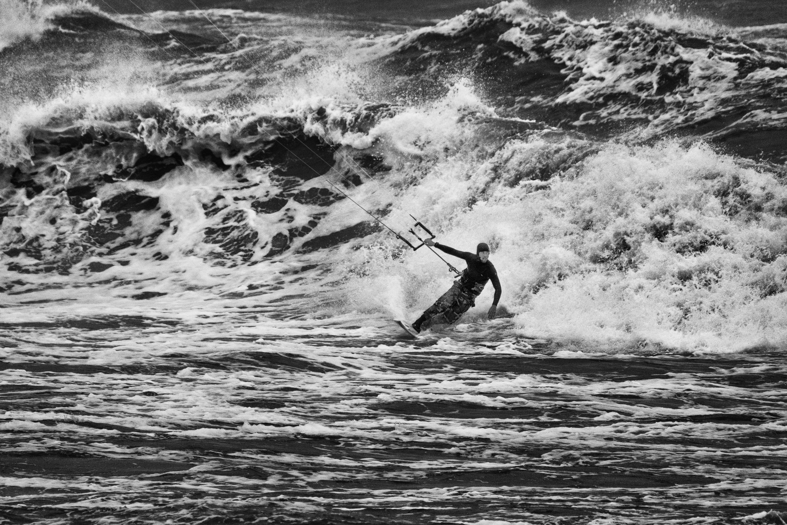 Baltic Kite Wave Jam 2016 - Once a year in Poland are organized championships Baltic Wave Kite Jam, riding on a wave on the perfect forecast! :) On the picture Janek Korycki, winner of this year's edition fought on in Ustka. Fuji XPro-2, XF 100-400, 1/500s, f8, ISO 3200