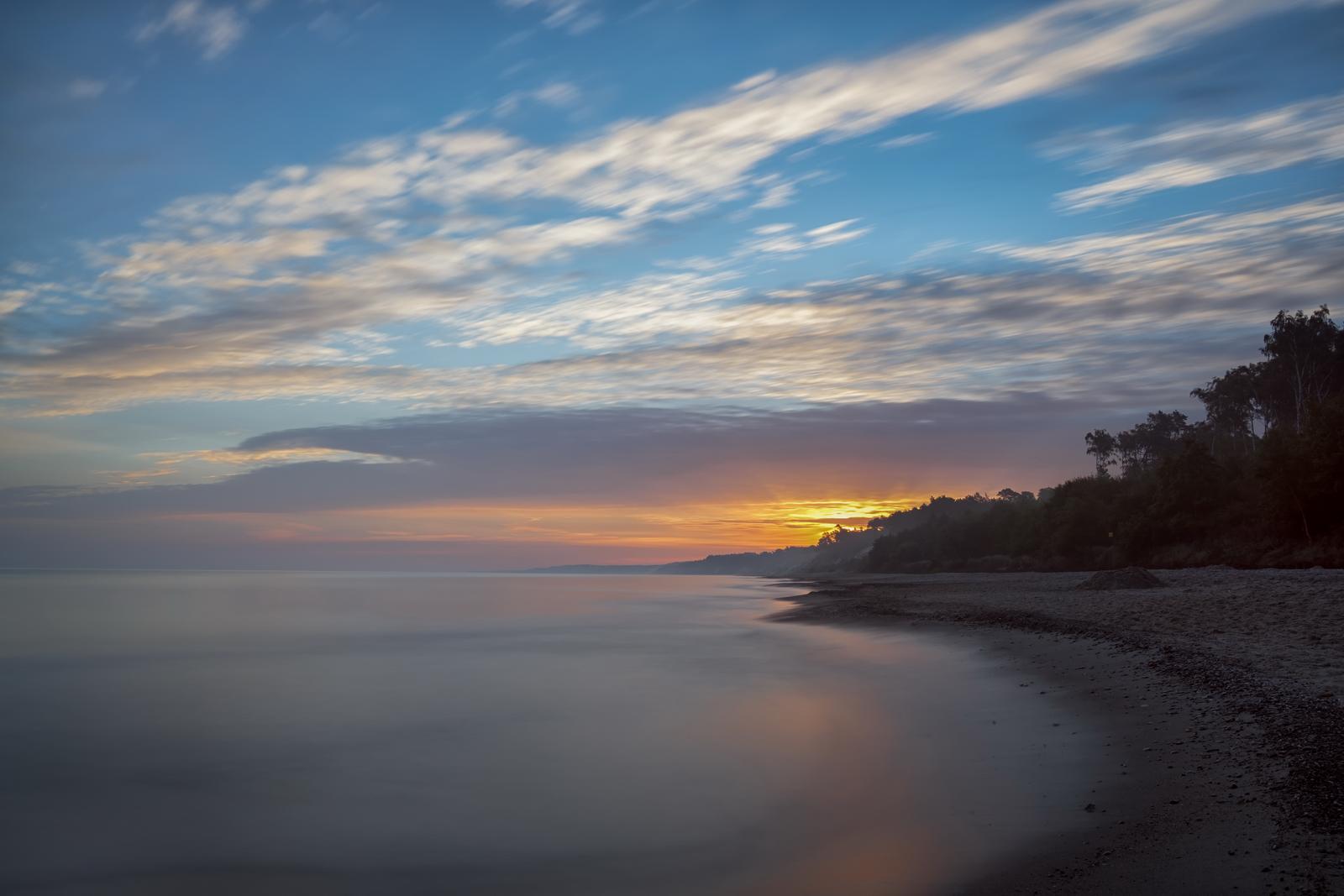 Sunrise – Photograph shows sunrise in Ustka. Waking up at 4am was fully rewarded. Fuji XPro-2, XF 50-140, 83s, f8, ISO 100, Hitech ND10