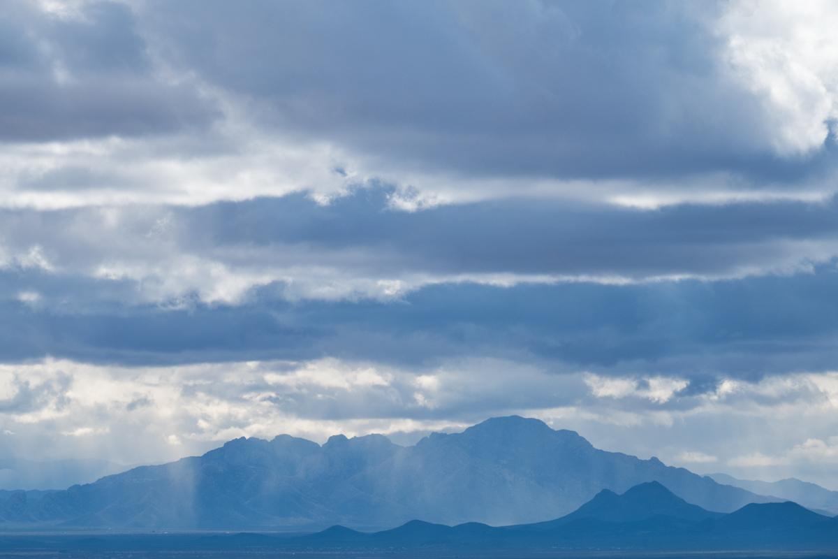 Approaching storm on Tucson, Arizona.