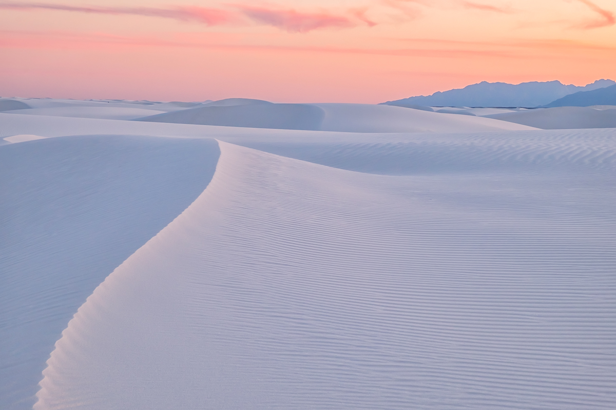 Lines in the Sand - White Sands National Monument at sunset.