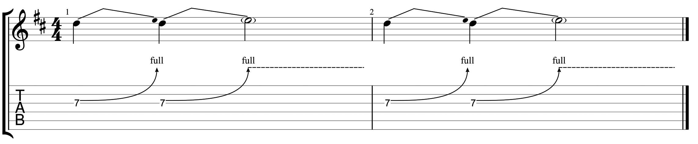 How to read guitar tab 10