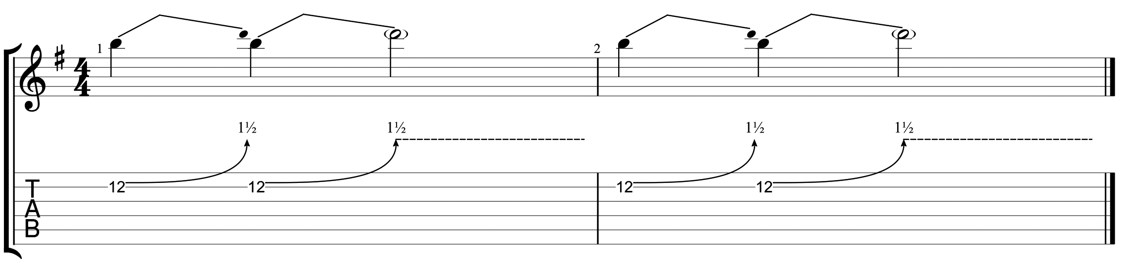 How to read guitar tablature 12
