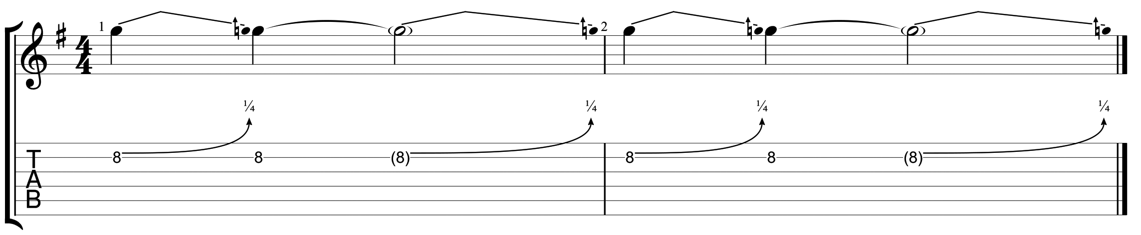 How to read guitar tablature 13