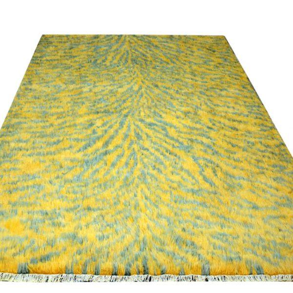 gold-shag-rug